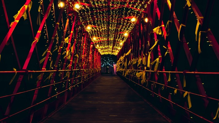 bridge, decoration, lighting wallpapers and stock photos