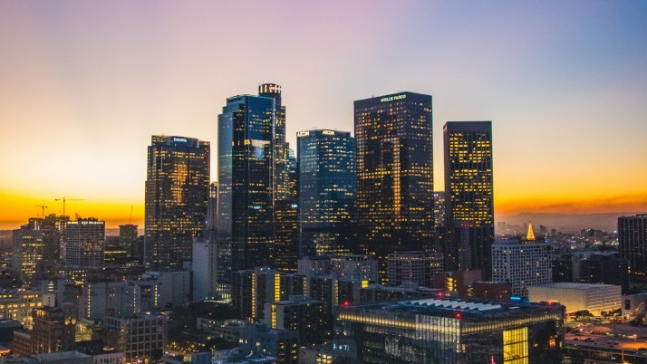 los angeles, usa, skyscrapers, wallpapers and stock photos