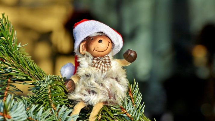 monkey, new year, fir, toy wallpapers and stock photos