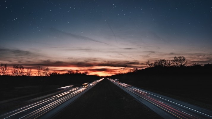 road, night, line, light, star wallpapers and stock photos