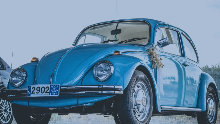 auto, retro, side view, blue wallpapers and stock photos