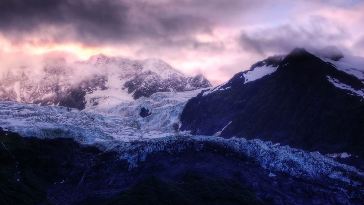 Glacier Sunrise,  velvet wallpapers and stock photos