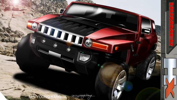 Hummer Hx, concept wallpapers and stock photos