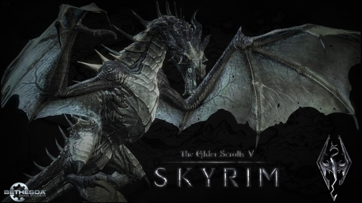 Skyrim Dragon wallpapers and stock photos