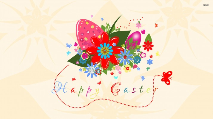 Happy Easter, egg, floral, butterfly, holidays wallpapers and stock photos