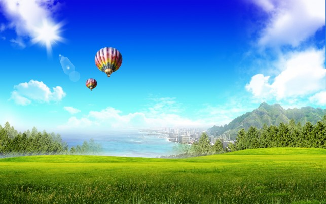 Summer Landscape, fantasy, worlds wallpapers and stock photos