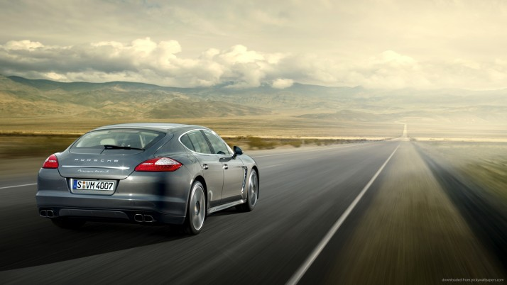 Porsche Panamera Turbo S, horizon wallpapers and stock photos