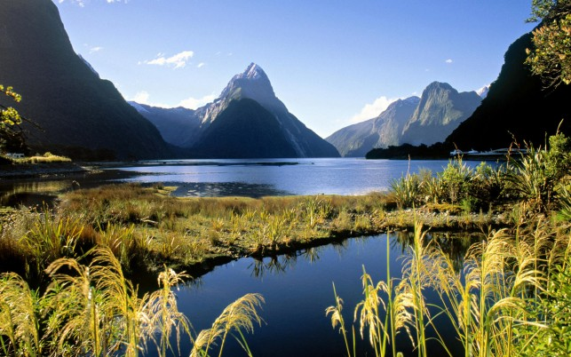 New Zealand, landscapes wallpapers and stock photos