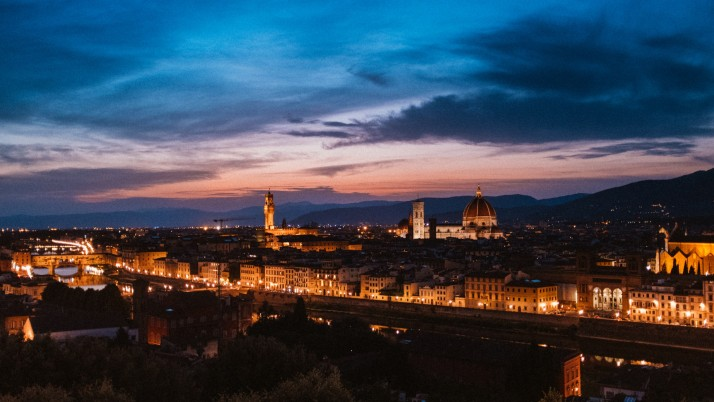 florence, italy, night city, t wallpapers and stock photos