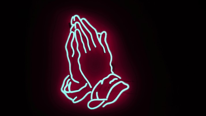 neon, hands, prayer wallpapers and stock photos