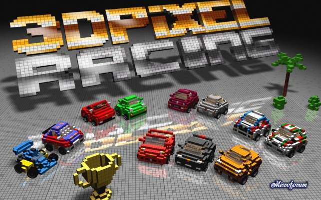 3D Pixel Racing wallpapers and stock photos