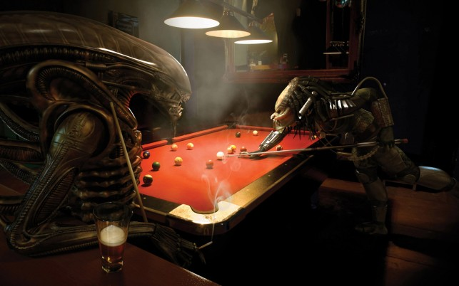 Alien Vs Predator Pool wallpapers and stock photos