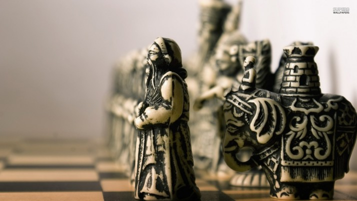 Vintage chess pieces, photography wallpapers and stock photos