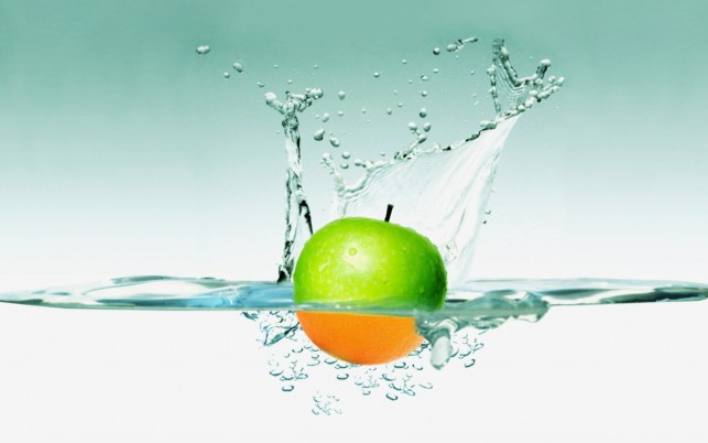 Apple Water, program, happy, funny, cards, design, software wallpapers and stock photos