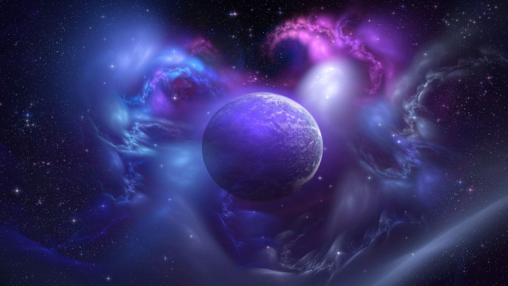 Planet and nebula, star, fantasy wallpapers and stock photos