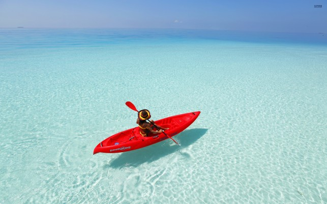 Kayaking the Maldives, maldive island, beach, beaches wallpapers and stock photos