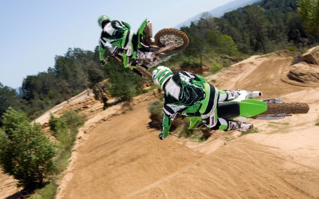 Motocross, kawasaki wallpapers and stock photos