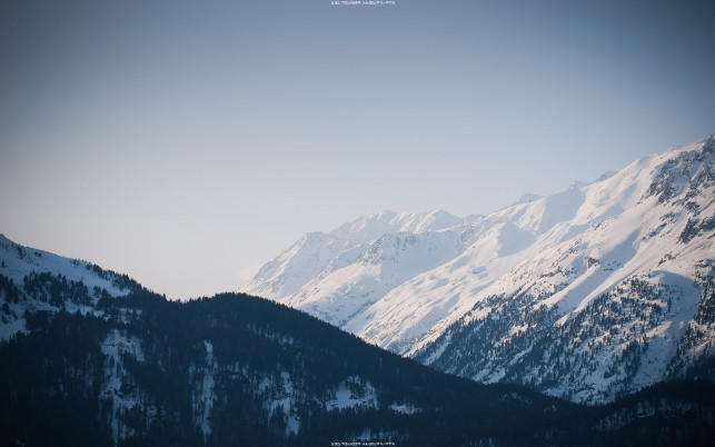 Snowy mountain range, winter, nature wallpapers and stock photos