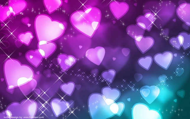Glowing hearts, digital-art wallpapers and stock photos