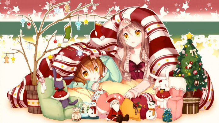 Anime Christmas  merry wallpapers and stock photos