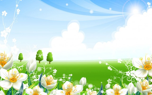 Green Vector, meadow, microsoft, system, windows wallpapers and stock photos