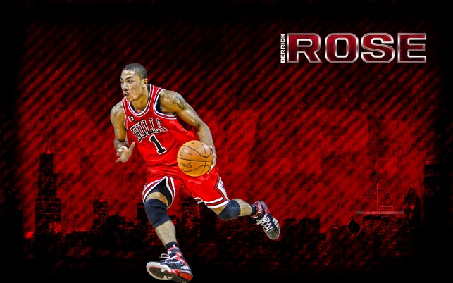 Derrick Rose, designs, lucas wallpapers and stock photos
