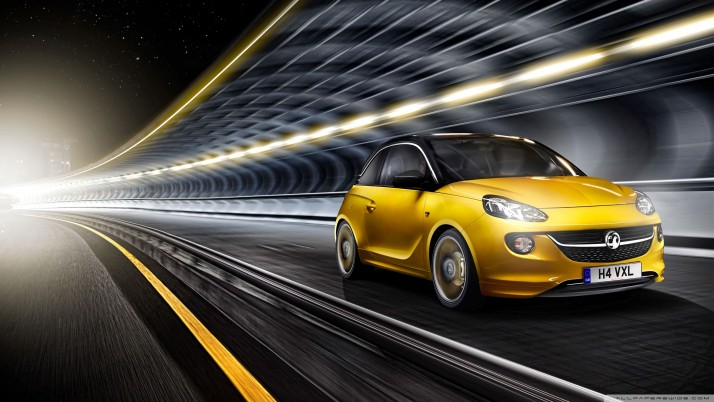 Vauxhall Adam, yellow wallpapers and stock photos