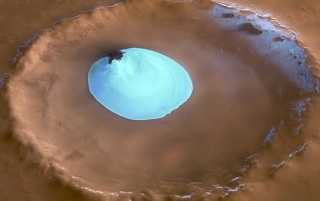 Mars Ice Crater wallpapers and stock photos