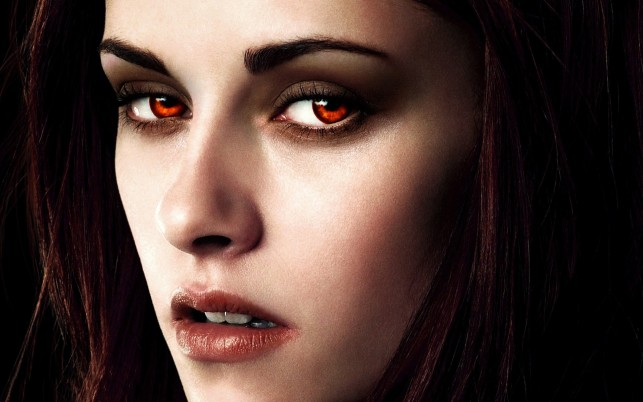 Kristen Stewart, twilight, red eyes, faces, breaking dawn, celebrity, celebrities wallpapers and stock photos