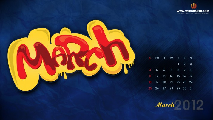 March 2012 Calendar, halloween,  photo wallpapers and stock photos