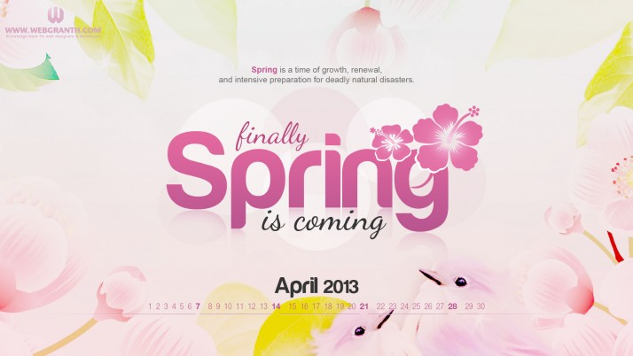 April calendar, spring, floral, digital-art wallpapers and stock photos