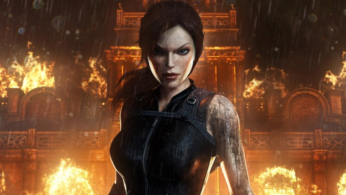 Tomb Raider Doppelganger, lara croft, rain wallpapers and stock photos
