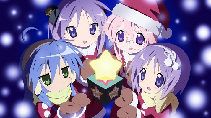 Lucky Star Christmas, anime wallpapers and stock photos