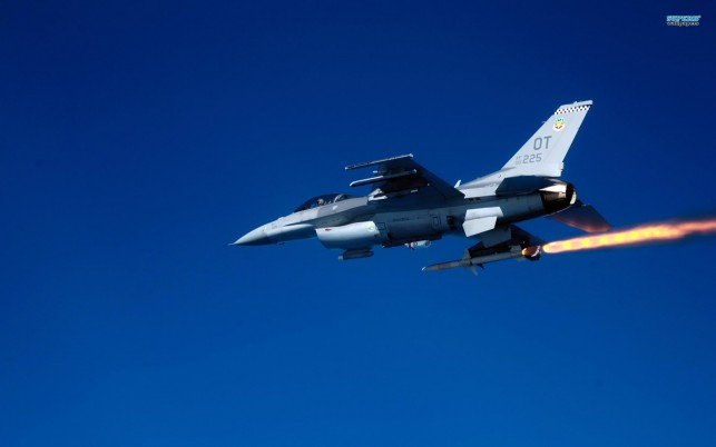 General Dynamics F-16 Fighting Falcon, aircraft wallpapers and stock photos