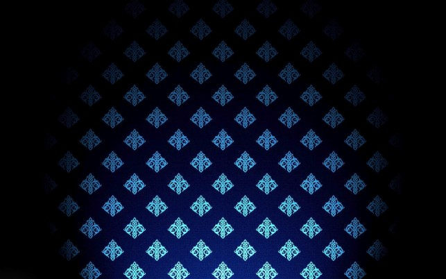 Random: Blue royal wall pattern, abstract