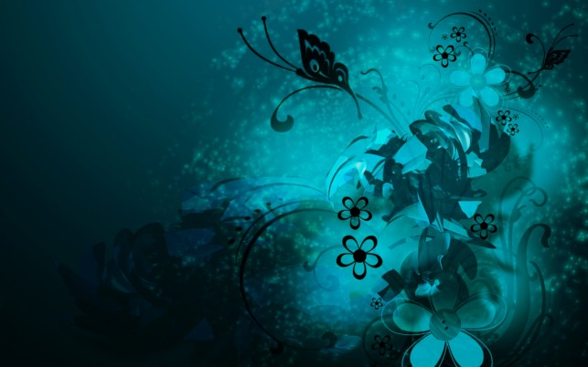 Next: Blue Abstract, butterfly, floral,  flower