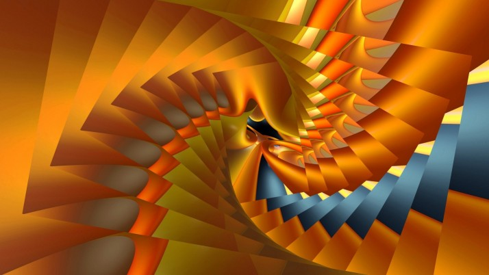 Orange spiral, abstract wallpapers and stock photos