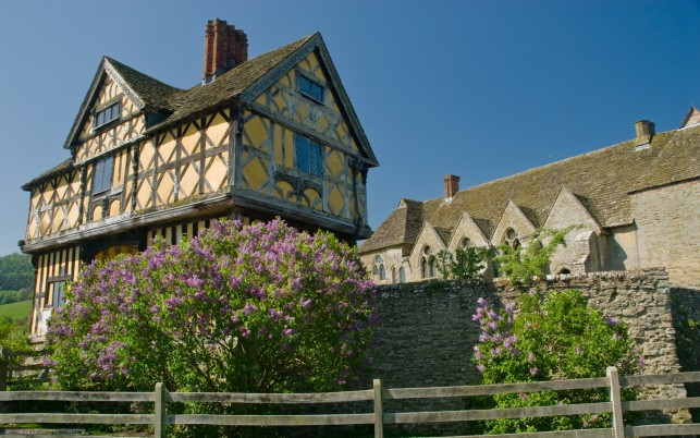 Stokesay Castle Shropshire, scenic wallpapers and stock photos