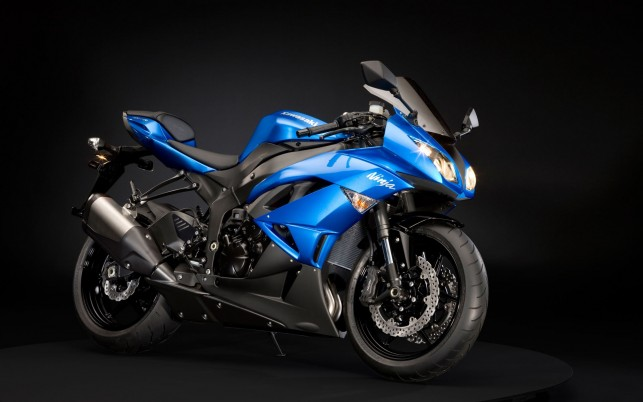 Kawasaki Ninja, bike, sports, blue, black wallpapers and stock photos