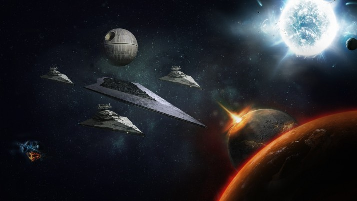 1920X1080 Star Wars, destroyer,  death, moon wallpapers and stock photos