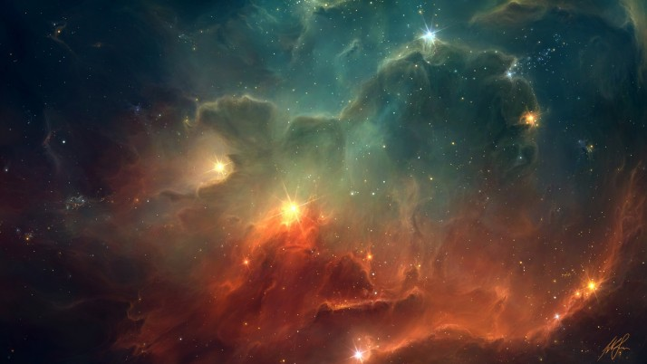 Space, red, blue, cool wallpapers and stock photos