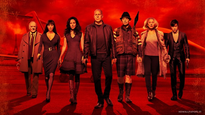 Red 2 Movie Poster, design wallpapers and stock photos