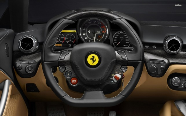 Ferrari F12 Berlinetta interior, car, cars wallpapers and stock photos