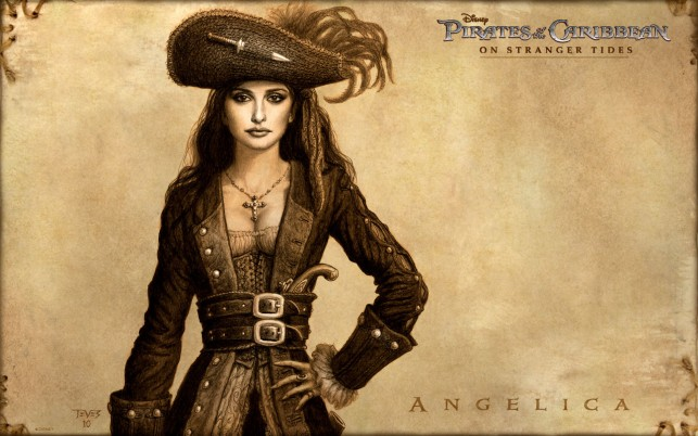 Angelica, penelope cruz, pirates of the caribbean, on stranger tides, artistic wallpapers and stock photos