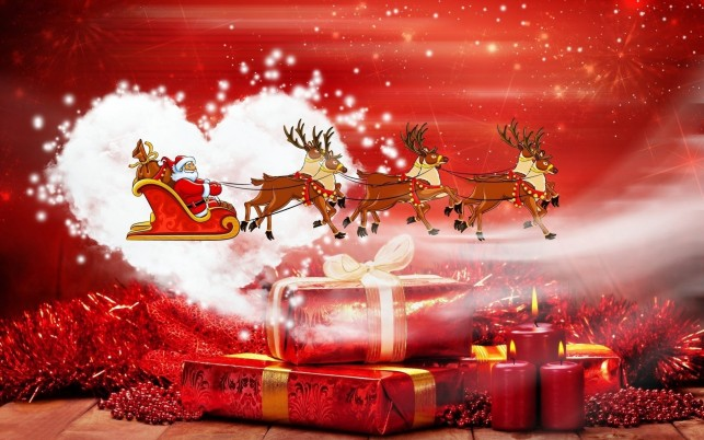 Santa Claus, present, christmas, holiday, holidays wallpapers and stock photos
