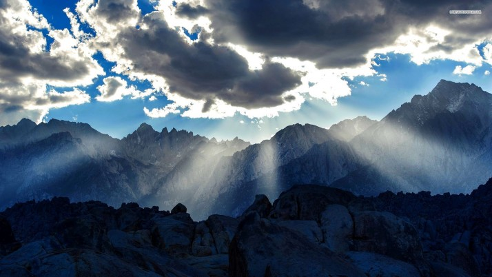 Silver shines over the mountains, sky, cloud, sun, nature wallpapers and stock photos
