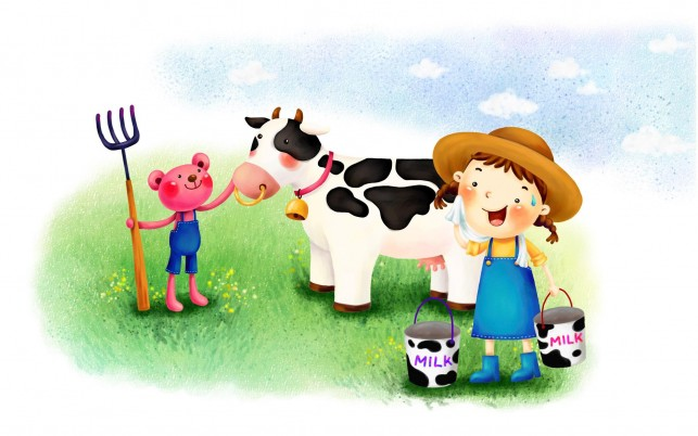 Cow Cartoon, funny,  sheep wallpapers and stock photos