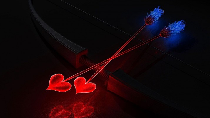 Cupid's arrows, heart, love, holiday, holidays wallpapers and stock photos