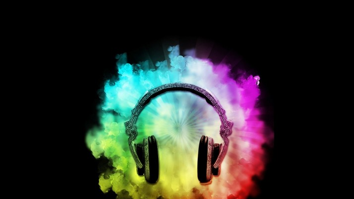 Headphones Music, rainbows wallpapers and stock photos