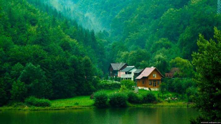 Free, house, valley, green, nature, windows wallpapers and stock photos